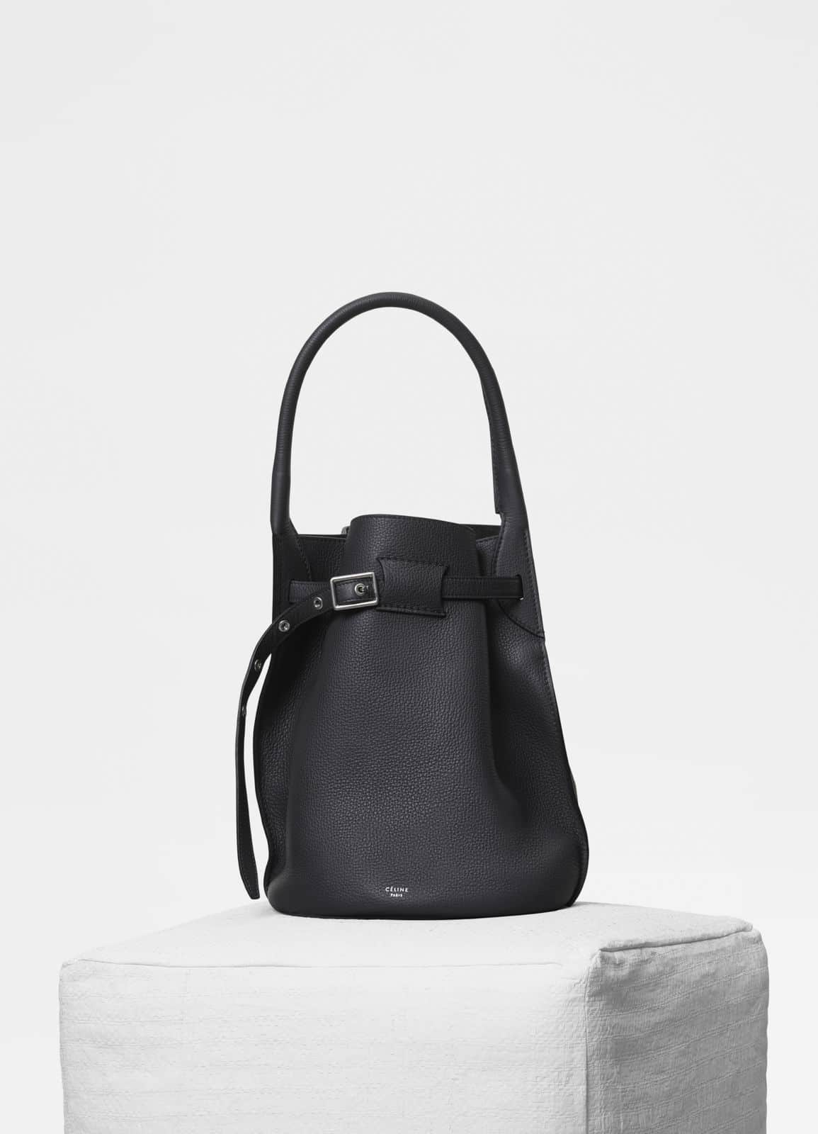 Celine Anthracite Supple Grained Calfskin Big Bag Bucket · Celine Amazone Smooth  Calfskin Big Bag Bucket with Long Strap ec6ae1b1cea6a