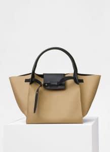 Celine Beige Rain Coat Fabric Medium Big Bag
