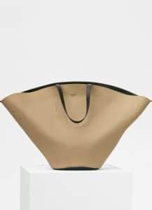 Celine Beige Rain Coat Fabric Oversized Studs Bag