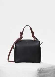Celine Black Smooth Calfskin Small Soft Cube Bag