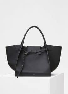Celine Black Supple Grained Calfskin Medium Big Bag