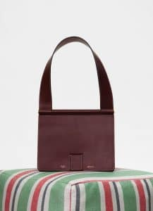 Celine Burgundy Satinated Natural Calfskin Small Tab Bag