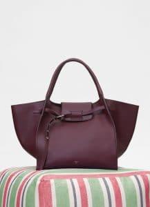 Celine Burgundy Smooth Calfskin Medium Big Bag