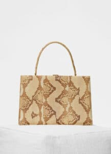 Celine Cream Python Medium Clasp Bag