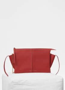 Celine Dark Claycourt Clutch Tri-Fold Bag