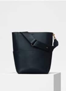 Celine Dark Navy Natural Calfskin Sangle Bucket Bag