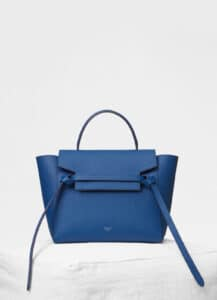 Celine Lazuli Grained Calfskin Micro Belt Bag