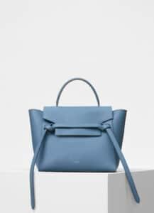 Celine Medium Blue Grained Calfskin Micro Belt Bag