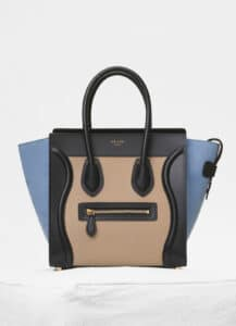 Celine Medium Blue/Multicolour Baby Grained Calfskin Micro Luggage Bag