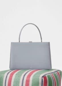 Celine Pearl Blue Box Calfskin Medium Clasp Bag