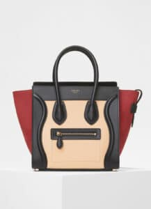 Celine Ruby Multicolour Baby Grained Calfskin Micro Luggage Bag