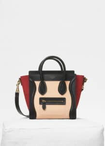 Celine Ruby Multicolour Baby Grained Calfskin Nano Luggage Bag