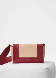 Celine Ruby/Nude Shiny Smooth Calfskin Medium Frame Bag