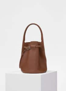 Celine Tan Soft Bare Calfskin Big Bag Bucket