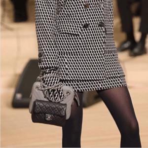 Chanel Black Classic Mini Flap and Gray Chevron Bags - Pre-Fall 2018
