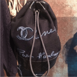 Chanel Black Drawstring Bag - Pre-Fall 2018