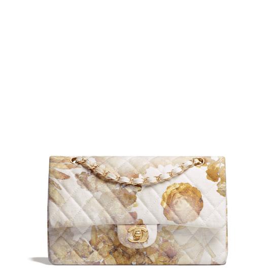 Chanel Printed Denim Classic Flap Bag