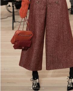 Chanel Red Classic Flap and Orange Chevron Bag - Pre-Fall 2018