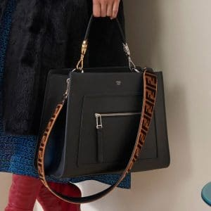 Fendi Black Runaway Top Handle Bag - Pre-Fall 2018