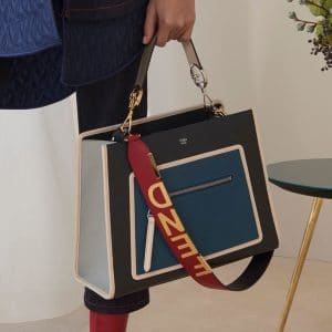 Fendi Black/Blue Runaway Top Handle Bag - Pre-Fall 2018