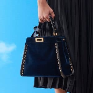 Fendi Blue Velvet Peekaboo Bag - Pre-Fall 2018