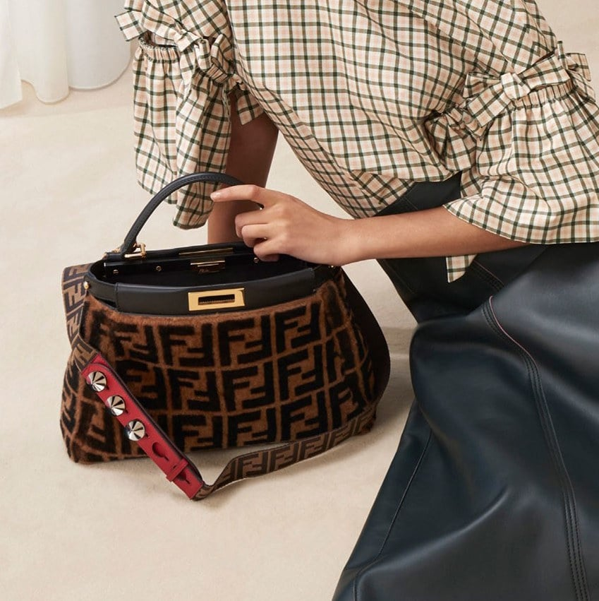 Fendi Brown Black Ff Pattern Kaboo Bag Pre Fall 2018