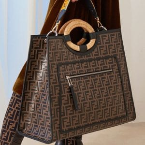Fendi Brown/Black FF Pattern Runaway Tote Bag - Pre-Fall 2018