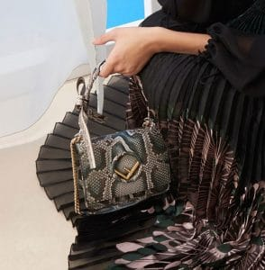 Fendi Dark Green Python Kan I F Bag - Pre-Fall 2018