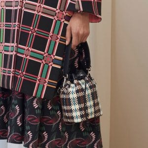 Fendi Multicolor Woven Plaid Mon Tresor Bucket Bag - Pre-Fall 2018