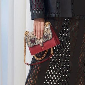 Fendi Red Python/Leather Kan I Bag - Pre-Fall 2018