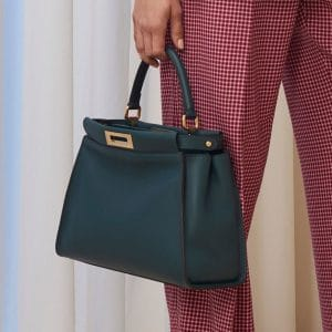 Fendi Teal Peekaboo Bag - Pre-Fall 2018