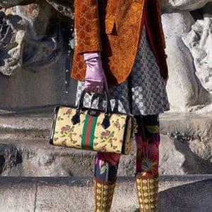 Gucci Beige Floral Duffle Bag - Pre-Fall 2018