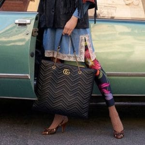 Gucci Black GG Marmont Tote Bag - Pre-Fall 2018