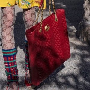 Gucci Red GG Marmont Tote Bag 2 - Pre-Fall 2018