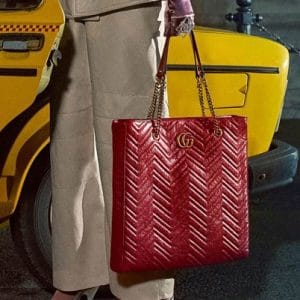 Gucci Red GG Marmont Tote Bag - Pre-Fall 2018