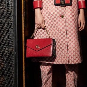 Gucci Red and Black Flap Bag - Pre-Fall 2018