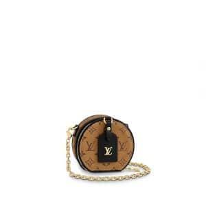 Louis Vuitton Monogram Reverse Canvas Boite Chapeau Necklace Bag