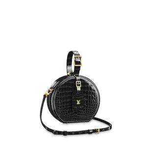 Louis Vuitton Noir Crocodilien Brillant Petite Boite Chapeau Bag