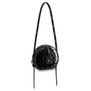 Louis Vuitton Noir Monogram Vernis Boite Chapeau Souple MM Bag