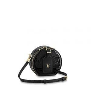 Louis Vuitton Noir Monogram Vernis Mini Boite Chapeau Bag
