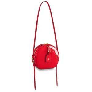 Louis Vuitton Rouge Monogram Vernis Boite Chapeau Souple MM Bag