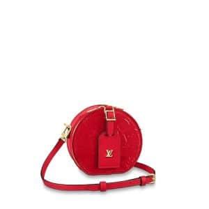 Louis Vuitton Rouge Monogram Vernis Mini Boite Chapeau Bag