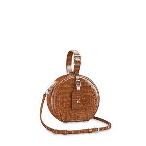 Louis Vuitton Sienne Crocodilien Brillant Petite Boite Chapeau Bag