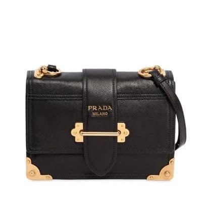 Prada Medium Cahier Leather Shoulder Bag
