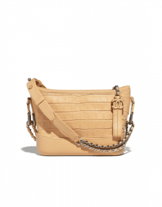 Chanel Beige Alligator Gabrielle Small Hobo Bag