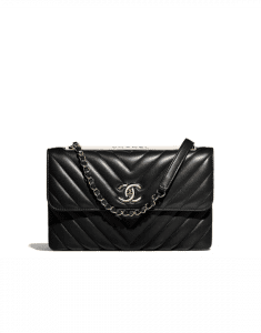 Chanel Black Chevron Trendy CC Flap Bag
