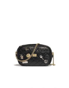 Chanel Black Lucky Charms Reissue Camera Case Bag