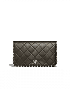 Chanel Black Metallic Bubble Clutch Bag