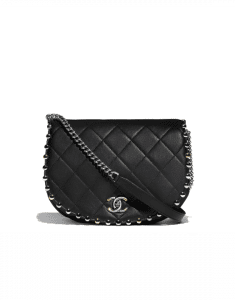 Chanel Black Metallic Bubble Flap Bag