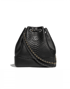 Chanel Black Python Gabrielle Backpack Bag